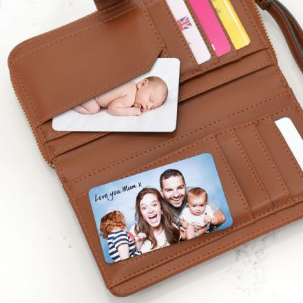 Personalised Wallet Or Purse Photo Cards